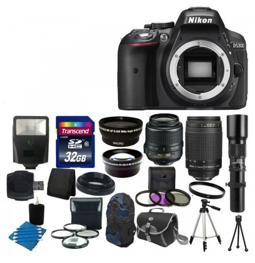 Nikon D5300 W zoom kit 18-55, 55-300